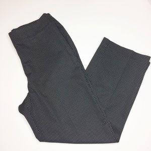 Talbots Black polkadot Classic cropped pants 10